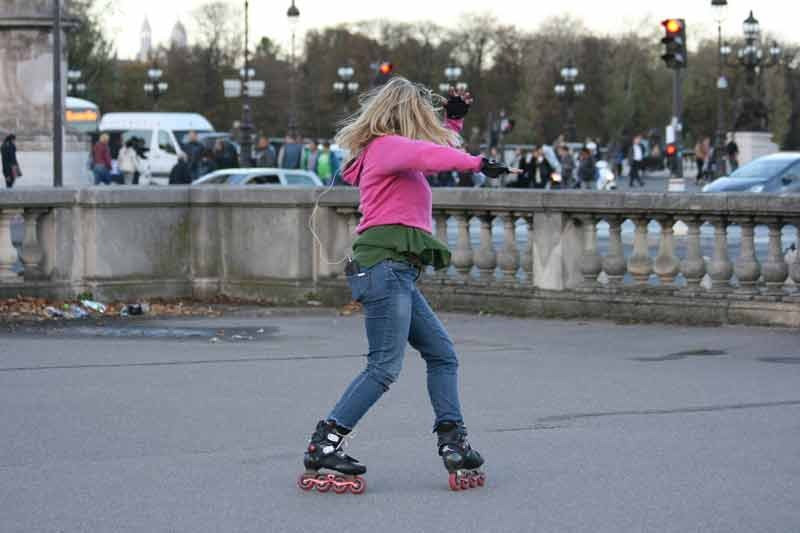 Getting around London on skates