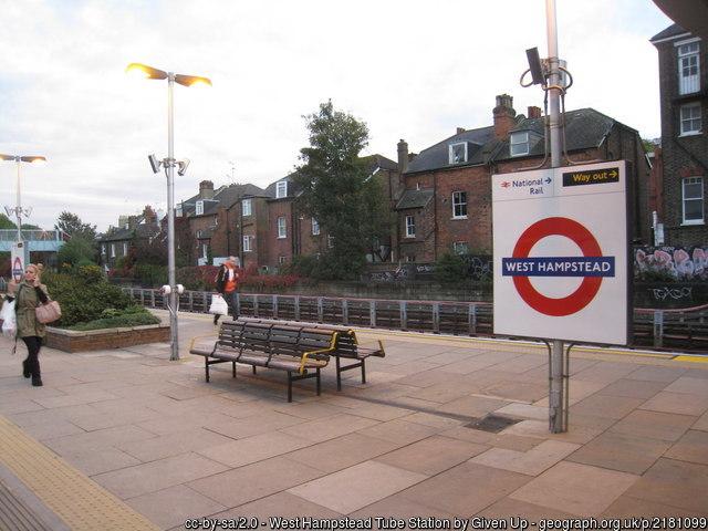 West Hampstead tube station near ESCP London