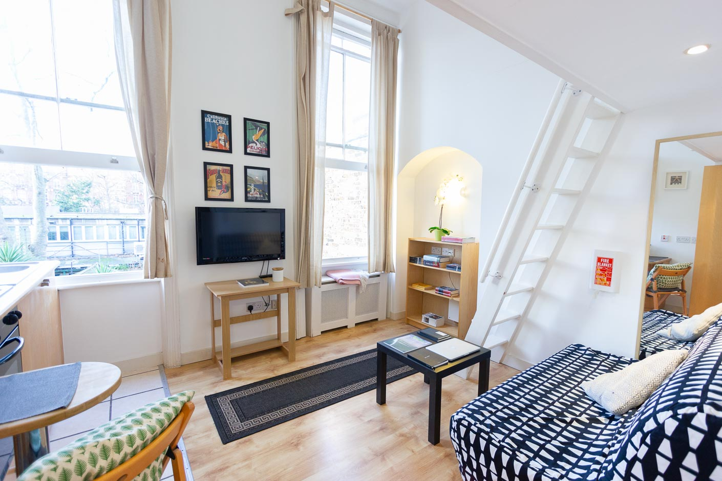 Is it better to rent a furnished or fully furnished flat? - Fully furnished studio apartment London